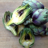 Oven Roasted Baby Artichokes