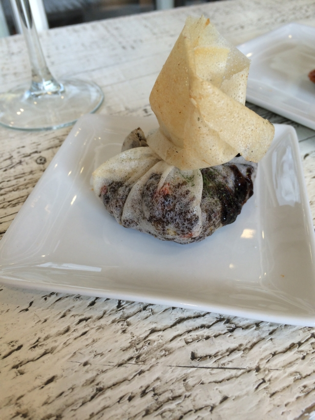 pintxos of blood sausage